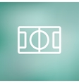 Basketball court thin line icon vector image vector image