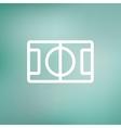 Basketball court thin line icon