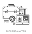Business analysis line icons vector image vector image