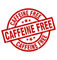 caffeine free round red grunge stamp vector image vector image