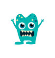 cartoon flat monsters icon colorful kids toy cute vector image vector image