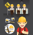 characters worker set vector image vector image