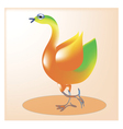 Cheerful bird1 vector image vector image
