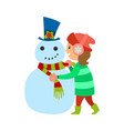christmas holidays girl winter vacations kid vector image vector image