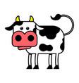 cow cartoon vector image vector image