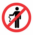 do not litter icon vector image vector image