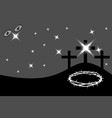 easter - golgotha three crosses vector image