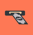 flat icon on background dollar money vector image