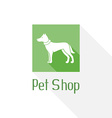 Flat pet shop logo with dog vector image vector image