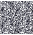 floral monochrome pattern vector image vector image