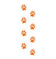 fox paw print vector image