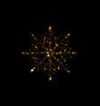 golden iridescent flickering snowflake christmas vector image vector image