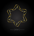golden star on black background vector image vector image
