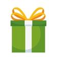 green gift box vector image