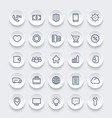 icons for web 25 linear pictograms set vector image vector image