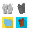 isolated object of glove and winter symbol set of vector image