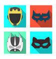 isolated object of hero and mask sign set of hero vector image vector image