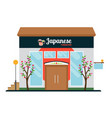 japanese food restaurant front vector image vector image