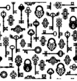 Keys And Locks Seamless Pattern vector image