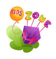 kids zone playroom banner in cartoon style vector image vector image