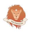 major arcana emblem tarot card the strength lion vector image vector image