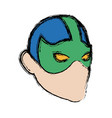 mask of super hero face character vector image vector image