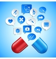 Medicine and healthcare concept vector image vector image