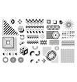 memphis geometric shapes retro black and white vector image