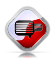 message or comment icon vector image vector image