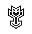 modern e-sport trophy logo creative concept vector image vector image