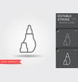 nasal aspirator line icon with editable stroke vector image vector image