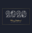 new year with 2020 number vector image vector image