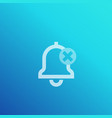 notifications off icon vector image