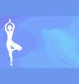 ocean yoga scene vector image vector image