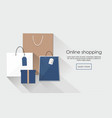 online shopping with group of shopping bags vector image vector image