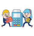 people online payment vector image