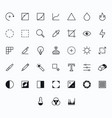photography outline icons for web and mobile thin vector image