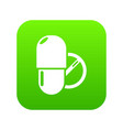 pills icon green vector image vector image