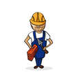 Profession construction worker cartoon figure vector image vector image