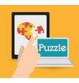 Puzzle icons design vector image
