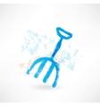 rake grunge icon vector image