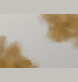 sand cloud mud dust splashes 3d dirty vector image vector image