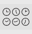 set clock icon time line graphic design elements vector image vector image