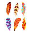 set colorful and bright vector image vector image