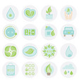 set of ecologic icon abstract elements collection vector image vector image