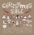 set of elements for christmas sale vector image vector image