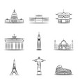 sights countries world famous vector image