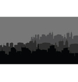 Silhouette of the city in the highlands vector image vector image
