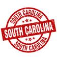 south carolina red round grunge stamp vector image vector image