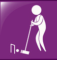 Sport icon for croquet on purple vector image vector image